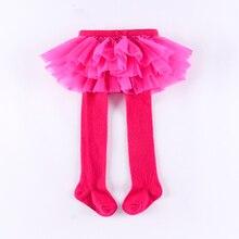Колготки для малышей с фатиновой юбкой; ярко-розовые колготки для новорожденных; юбка из искусственного материала; два колготки для малышей; Осенние леггинсы для младенцев; юбка-пачка
