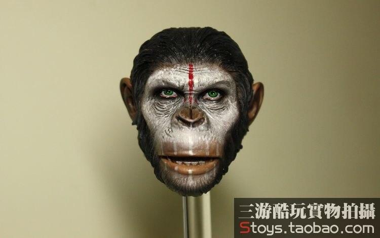1/6 scale figure doll head shape for 12 action figure doll accessories Rise of the Planet of the Apes Caesar male Head carved женские кольца jv женское серебряное кольцо с марказитами и эмалью rgm7364 mz enam wg 16 5
