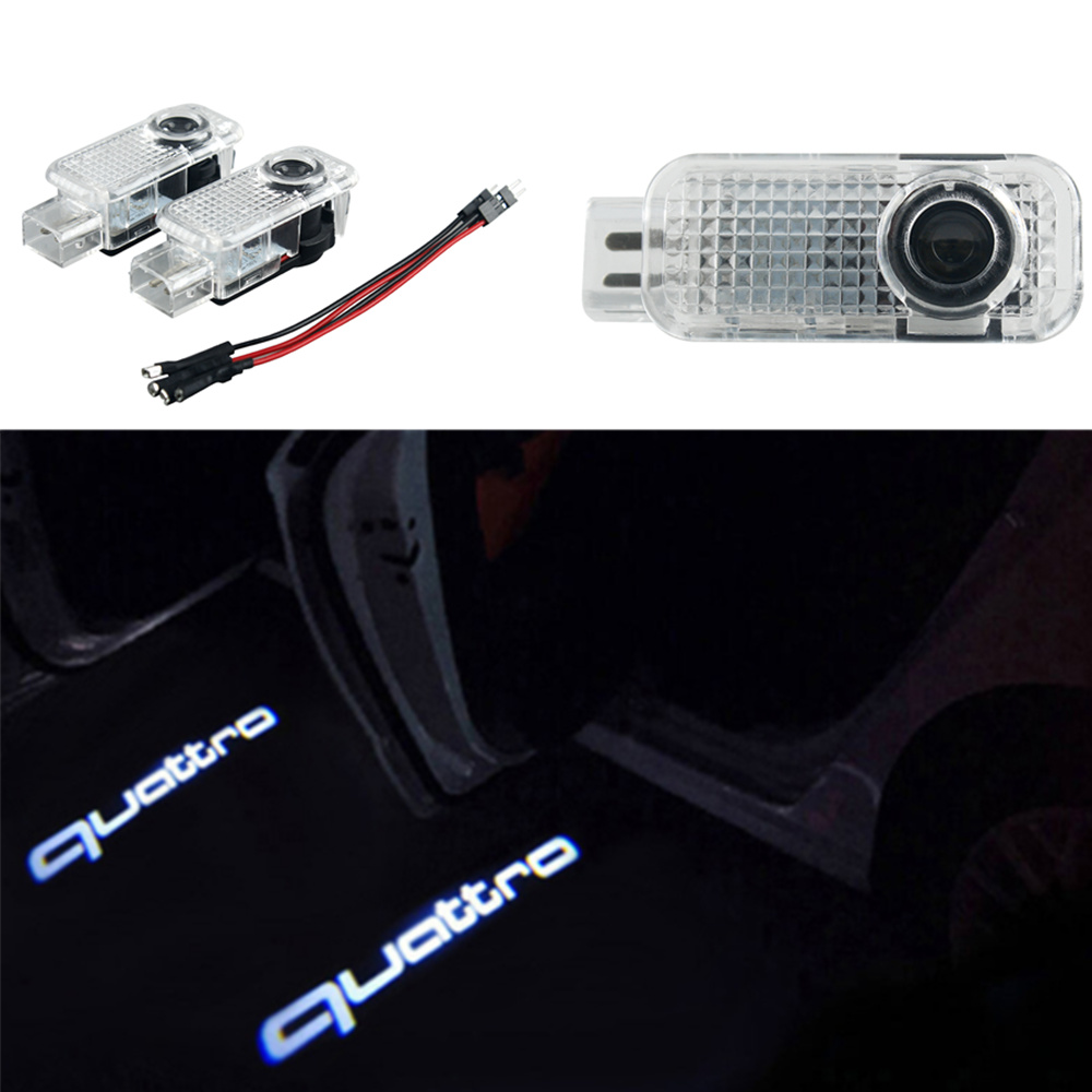 Car LED Ghost Shadow Projector Laser Courtesy Personality Quattro Logo Light For Audi Sline A8 A7 A5 A6 A4 A3 A1 R8 TT Q7 Q5 Q3
