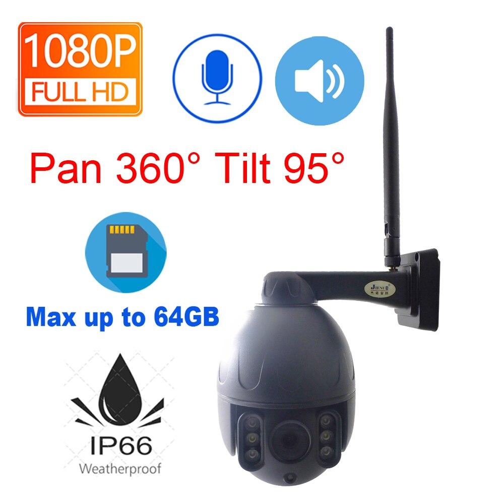 JIENUO Wifi caméra ip 1080 P Cctv sécurité sans fil 2.0mp HD Surveillance Audio IPCam infrarouge étanche intérieur extérieur deux voies