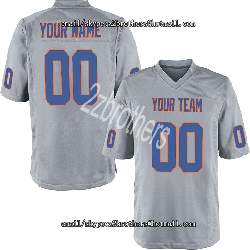 America Football Sports & Entertainment Original Custom White Mesh Replica Football Game Jersey Embroidered High Shcool College Team Logo Name And Your Numbers For Men Women Kid