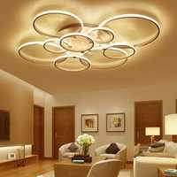 Luces de techo led modernas montadas en superficie para sala de estar dormitorio luz blanca/marrón plafondlamp iluminación del hogar led lámpara de techo