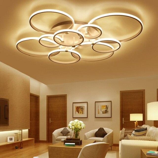 Surface mounted modern led ceiling lights for living room Bed room light White/Brown plafondlamp home lighting led Ceiling Lamp