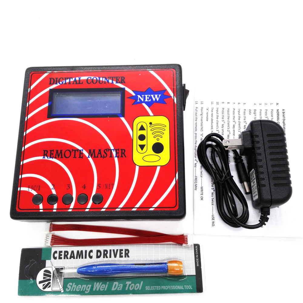 ФОТО New Remote Copier Auto Tool DIGITAL COUNTER 10th (REMOTE MASTER)Blue Screen Fixed/Rolling Code Copy Machine Key Programmer