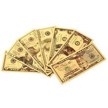 Новинка, долларовый купюр в подарок, копия банкнот из американской золотой фольги 24K, искусственная фотокопия искусственных денег, украшени...
