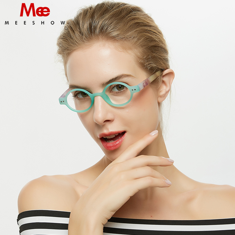 Meeshow Round Reading Glasses Men Women Glasses With Diopter Retro Europe Style Clear Summer Eye Glasses  +2.25+1.75 +4.0  1730
