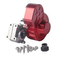 Fashion Complete Metal Gearbox Transmission Box + Gear for 1/10 RC Crawler Axial SCX10