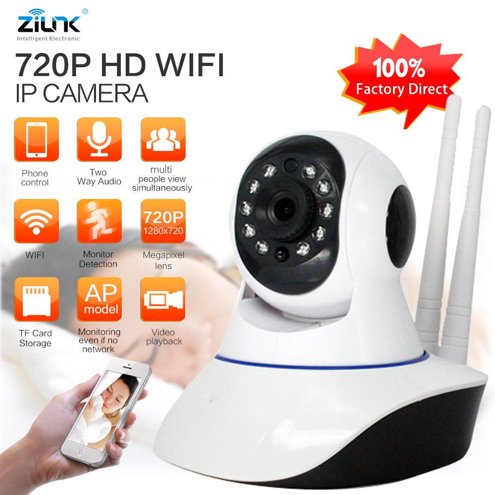 ZILNK HD 720P IP Camera WiFi Wireless Two way audio Night Vision Onvif Home Security CCTV Surveillance Camera Baby Monitor