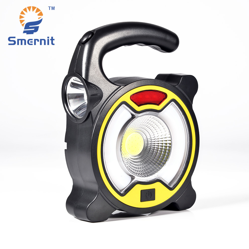 Smernit Powerful COB LED Work Light Multifunctional Outdoor Camping Solar Light Portable Emergency Solar Lanterns Lighting