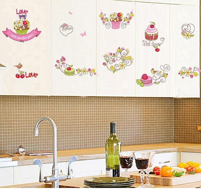 1 unids postre de la magdalena de la cocina del arte Sticker ...