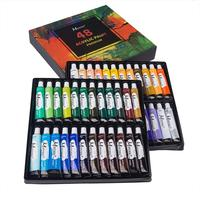 ACRYLIC PAINT SET COLOUR PAINTS ARTIST ART AND CRAFT 48X 22ml ACRYLIC COLOUR