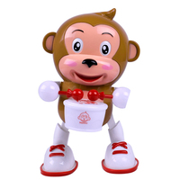 Flashing LED Light Electric Monkey Toys Kids Children Plastic Dancing Monkey Baby Kids Intelligence Developmental Music