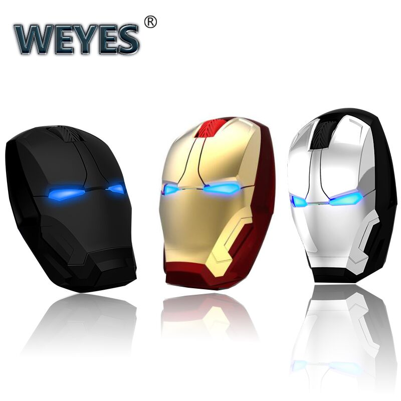 c89049fe831 Iron Man Mouse Wireless Mouse Gaming Mouse Gamer Computer Mice Button Silent  Click 800/1200/1600/2400DPI Adjustable computer ~ Free Shipping June 2019