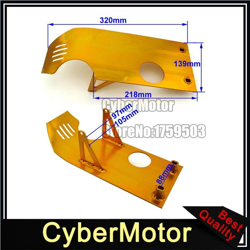 Or de Base Du Moteur Plaque de protection Pour Dirt Pit Bike Lifan YX 50cc 70cc 90cc 110cc 125cc 140cc Apollo Kayo Stomp Piranha Taotao