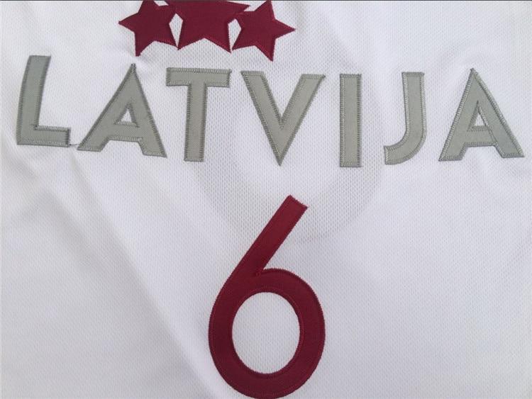 e9405e84945 2019 New White Kristaps Porzingis Jersey #6 Latvija Team Cheap Throwback  Basketball Jersey Stitched Vintage Shirts-in Basketball Jerseys from Sports  ...