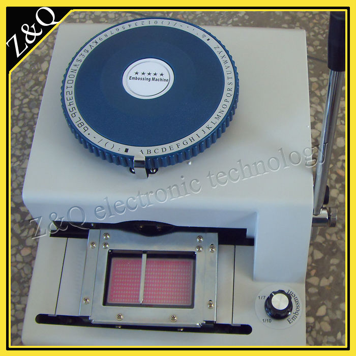 Manual pvc card press machine 70C characters