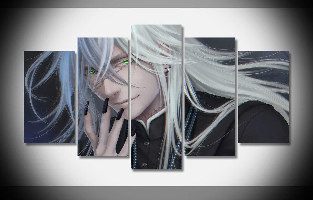 7057 black butler face scar white