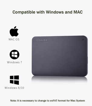 "Toshiba 1TB 2TB External HDD USB3.0 HDD 2.5\"" Desktop Laptop Hard Drive Disk External Hard Drive Portable Externo Disco Duro 1 TB"
