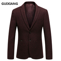 2018 Spring Blazer Men Casual Male wool Blazers Men's Classic red Blazer Slim Fit coats classics business jacket XF061
