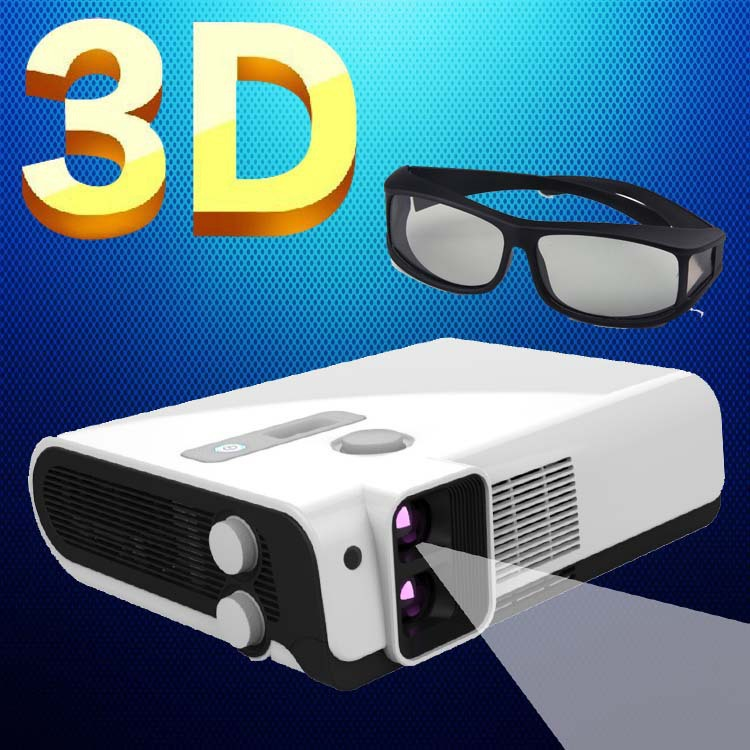 Best 2500Lumens Multifunction Full HD Polarized Blue ray 3D DLP Beamer font b Projectors b font