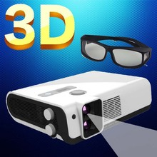 Best 2500Lumens Multifunction Full HD Polarized Blue ray 3D DLP Beamer Projectors 1920*1080 support Full 3D for home theater
