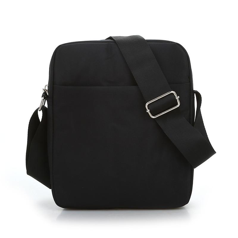 Black Business Messenger Bag Contracted Joker Unisex Crossbody Bag More Zippers Large Capacity Flap Bag Preppy Style Leisure Bag 3