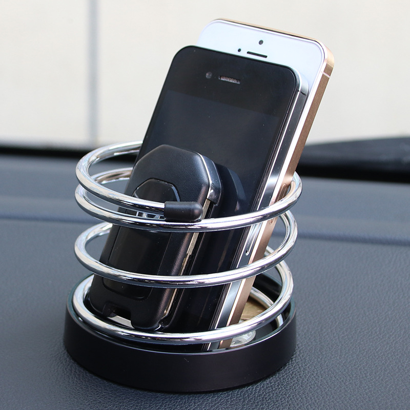 Simple car spring universal bracket mount phone mount key storage pens coins storage box office desk or car using 1431