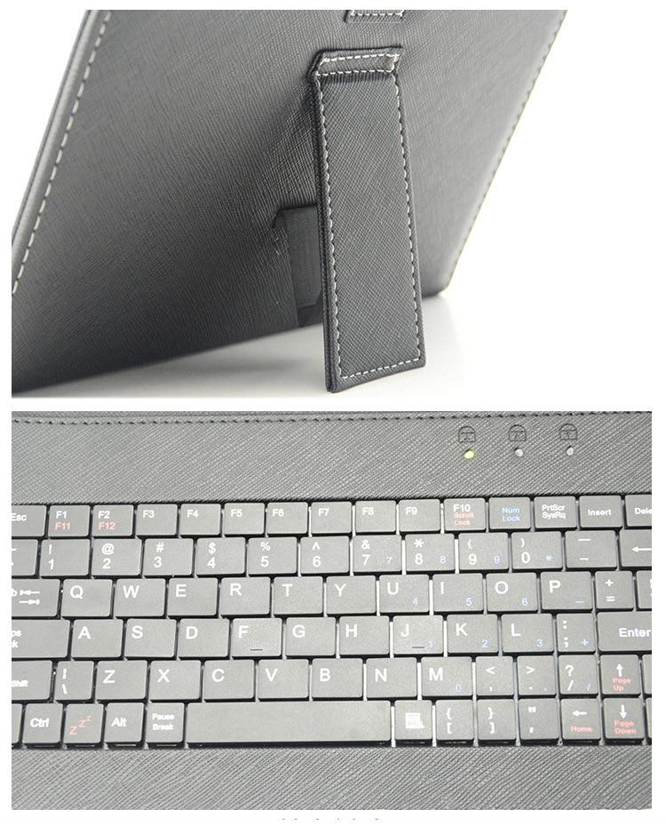 USB-tastatur læder Flip Cover Case til de fleste Android-system - Mobiltelefon tilbehør og reparation dele - Foto 5