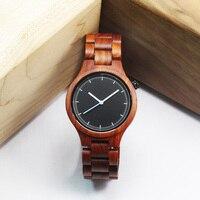 Luxury Brand Natural Wooden Watch Men Women Maple Sandal Bamboo Wood Wristwatch Unisex Handmade Casual Quartz Watches Genuine