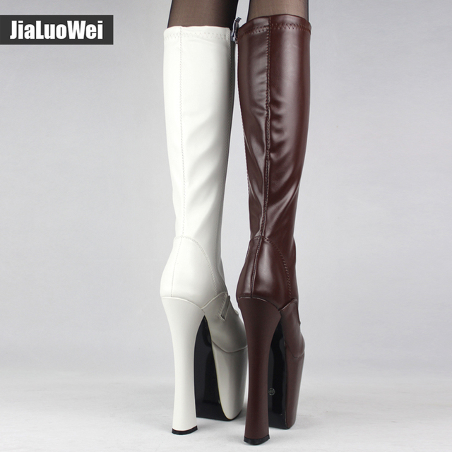 fb3183ecbe JIALUOWEI Sexy Thick Platform Women Knee-High Long Boots 20cm Extreme High  Heel -Exotic,Fetish,Sexy,Shoes. Previous; Next