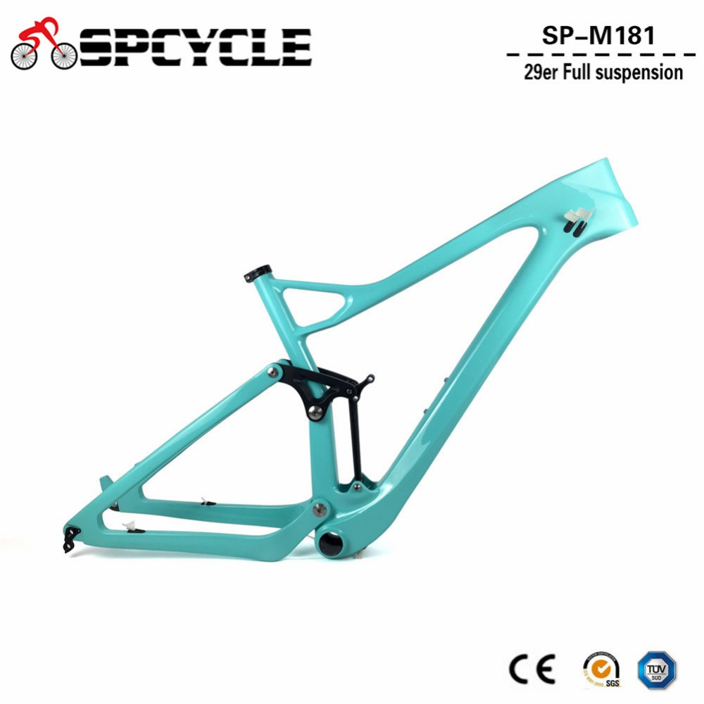 2018 Новый 29er полный Подвеска карбоновая рама 29er T1000 углерода MTB горный велосипед рама 142*12 через ось тормозного диска Рамка