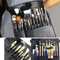 Professional UK Cosmetic Makeup Brush Apron Bag Artist Belt Strap Makeup Kits Holder Black