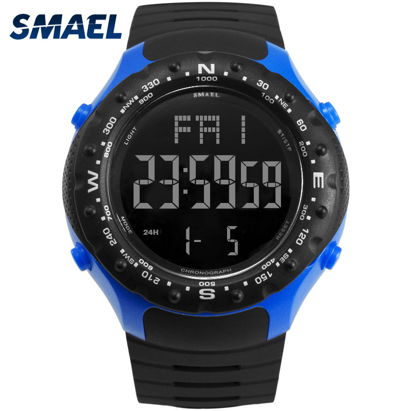 Fashion Brand Army Sport Watch Men 5bar Waterproof Smael S Shock Resist Cool Big Watches Military <font><b>1342</b></font> Led Digital Wrsitwatches image