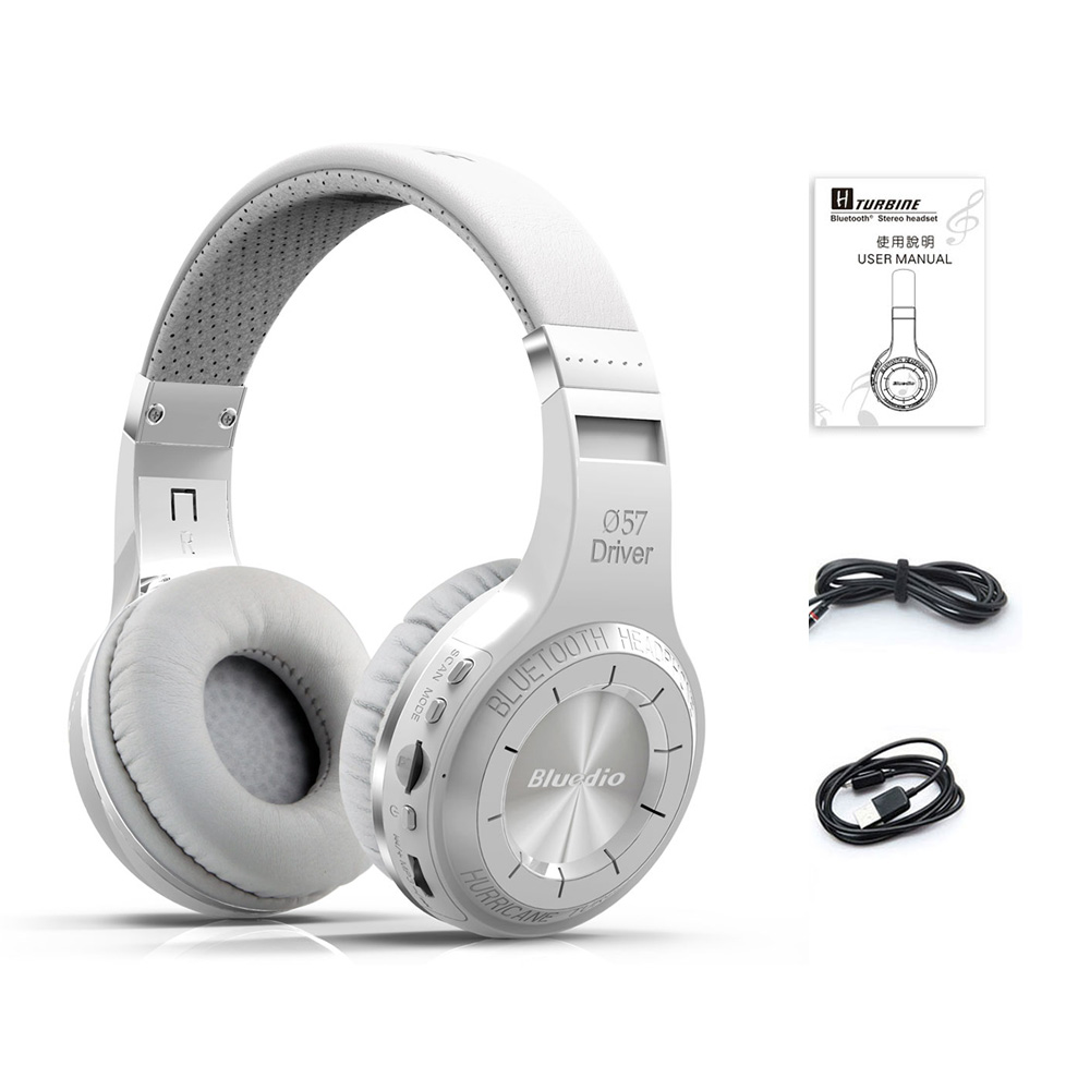Original Bluedio H+ music Headphones Wireless Bluetooth Headset with Mic Handsfree Micro sd card FM Radio Over-ear Head phones