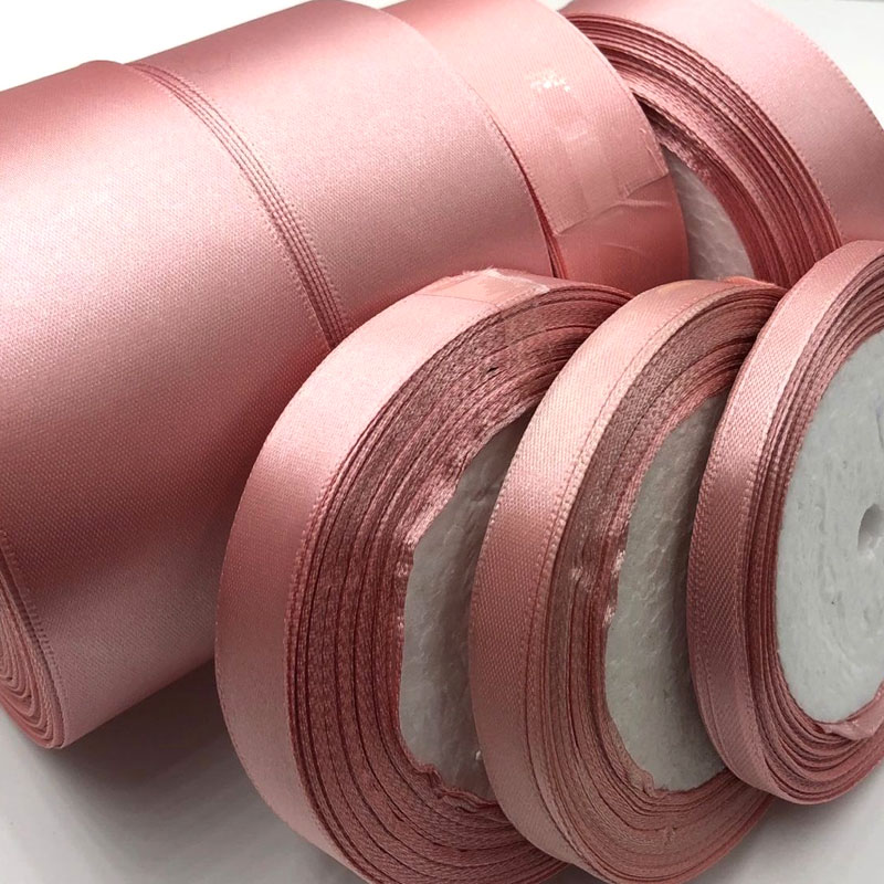 041 free shipping Wholesale 25 Yards Silk Satin Ribbon Wedding decorative ribbons gift wrap DIY handmade materials in Ribbons from Home Garden