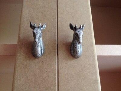 Aliexpress.com : Buy Unique Pewter Deer Head style Dresser Knobs ...