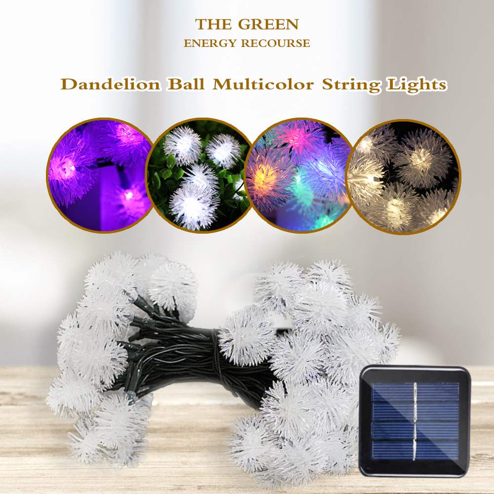 Snow Ball Solar String Led Fairy Lights Outdoor Lighting Garden Garland Christmas Tree for Home Decoration Strip Lamp Waterproof 20 led bubble ball shaped christmas tree string lights decorated colored lamp