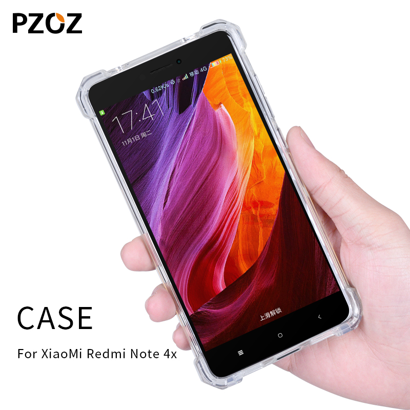 Pzoz redmi note 4x case silicone luxury Anti-knock xiaomi redmi note4x Cover Transparent Clear Protective xiomi note 4x 3gb 32gb