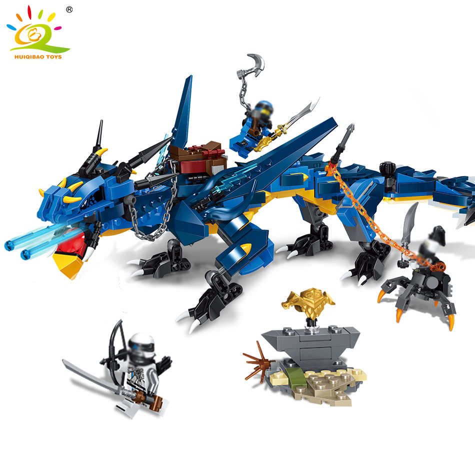 522pcs Ninja Blue Brontosaurus Dragon Building Blocks Compatible Legoed Ninjagoes Movie Stormbringer Figures Toys For Children 1326pcs ninjaos temple of ninjagoes blocks set toy compatible with legoings ninja movie building brick toys for children