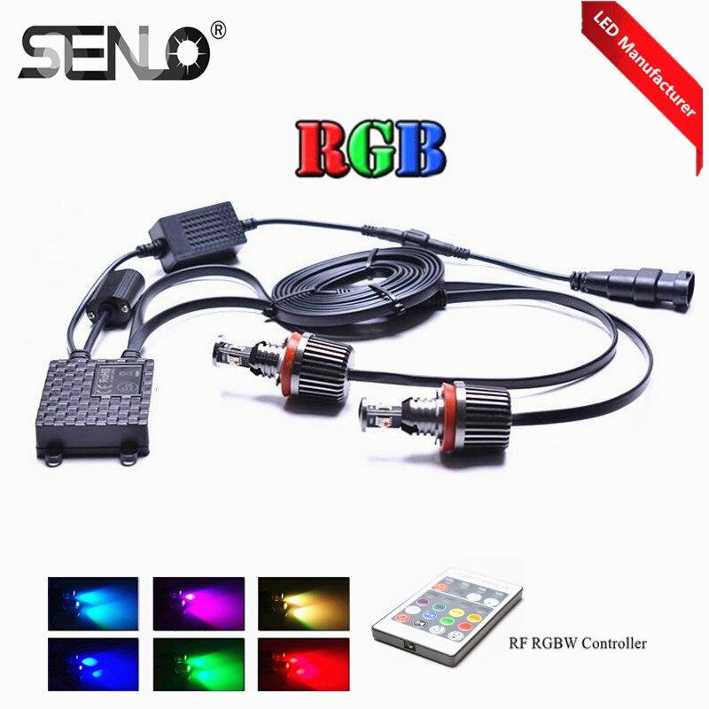 Couleurs changeantes RF e92 LED oeil d'ange h8 l'anneau de halo de rvb DRL Contrôleur indicateur LED pour BMWE63 E64 E92 E93 E82 X5 X6 F01 F02