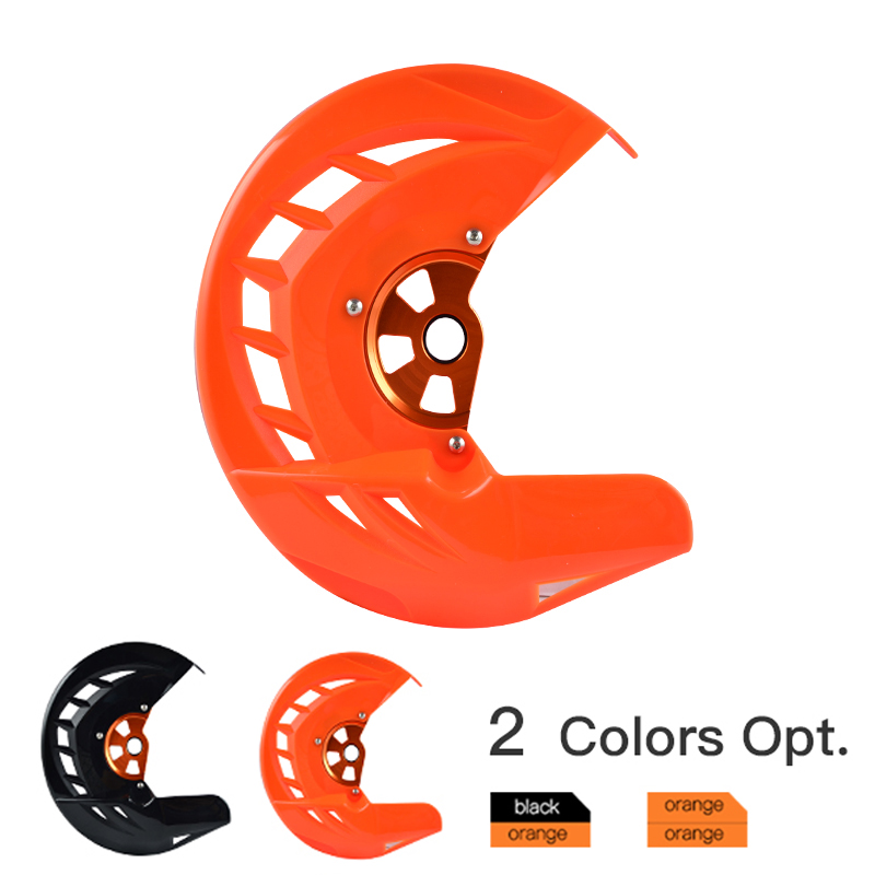 Front Brake Disc Rotor Guard Cover for KTM SX SXF XC XCF EXC EXCF 125 150 200 250 300 350 400 450 500 505 525 530 2016-2018 right left sides wp fork leg shoe guard protector cover for ktm 125 200 250 300 350 400 450 500 exc sx sxf xc xcf excf excw xcfw