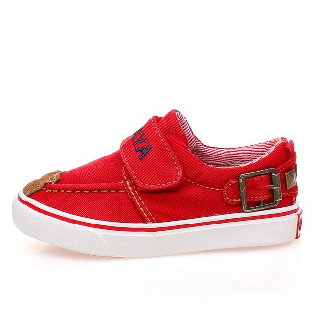 c3bb23b9003 Enfants En Caoutchouc Fond Mou Sneakers Toile Shoes Garçons Mocassins Chaussure  Garcon Bateau Sneakers Enfant En