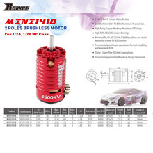 SURPASSHOBBY Upgraded MINI1410 3500KV Brushless Motor for Kyosho Mr03 Pro Atomic DRZ 1/24 1/28 1/32 RC Mini-Z Drift Car