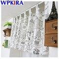 W135 * h35см маленькие кофейные занавески с мультипликационным рисунком  полузатемненные занавески на дверь для кухни  короткие занавески на д...