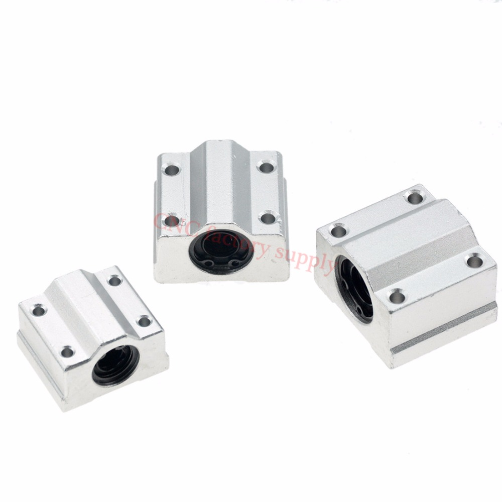 1pc SC8UU SCS8LUU 8mm Linear Ball Bearing Block CNC Router SCS6UU SCS10UU SCS12UU SCS13UU for CNC 3D printer shafts Rod parts axk sc8uu scs8uu slide unit block bearing steel linear motion ball bearing slide bushing shaft cnc router diy 3d printer parts