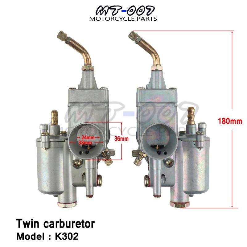 Nouveau 1 paire gauche & droite 28mm paire de carburateur carburateur Carby adapté pour K302 BMW M72 MT URAL K750 MW Dnepr