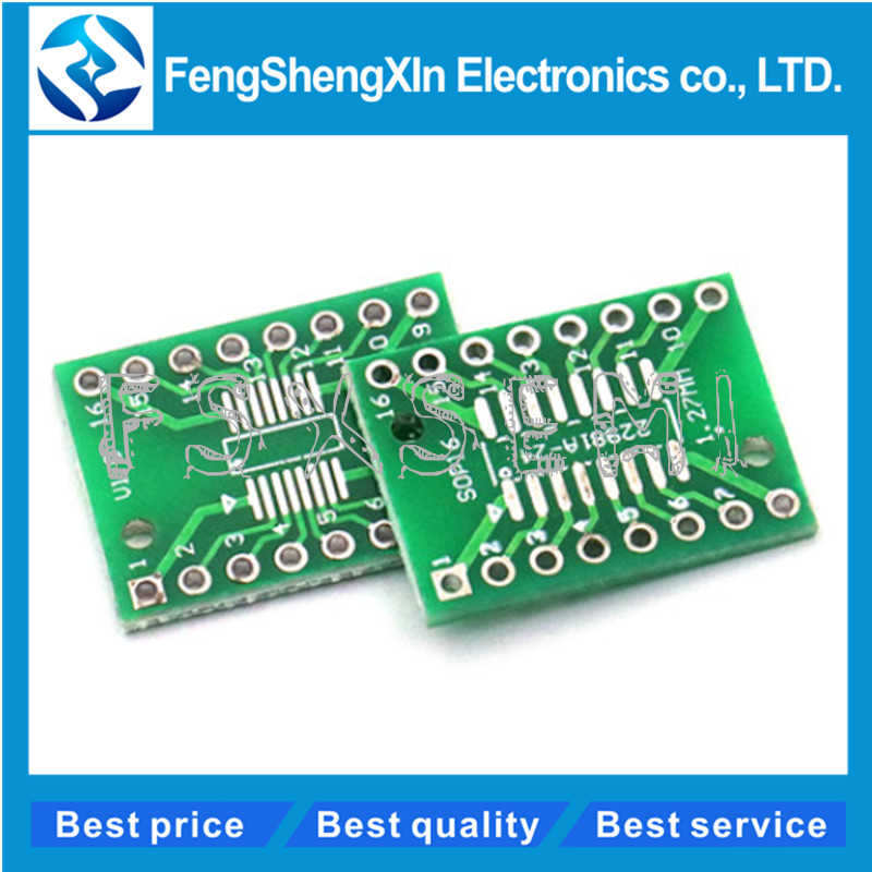 4 Sets SOP14 SSOP14  to DIP14 Adapter Board w// Pins SMD SMT to DIP 1.27mm  .65mm