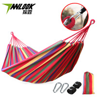 Single Double Thick Canvas Hammock Exposed Outdoor Camping Hammock Wholesale Indoor Swing