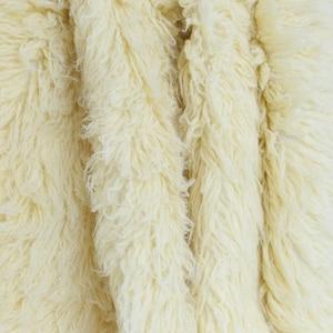 Image 3 - Sky Blue Shaggy Wool Fur Fluffy Baby Posing Fabric Fur Nebworn Cover Blanket Natural Curly Wool Backdrop Bean Bag Blanket Props