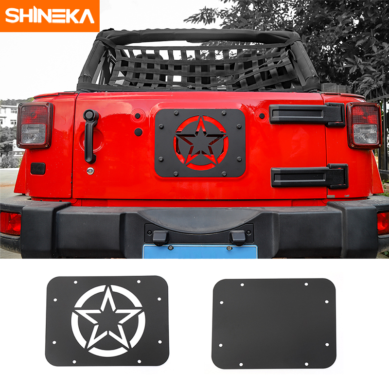 SHINEKA Car Styling Rear Door Tailgate Exhaust Opening Air Outlet Vent Cover Panel for Jeep Wrangler JK 2007-2016 цена
